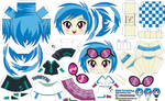 Vinyl Scratch (Joey's Chibi Girls 048)