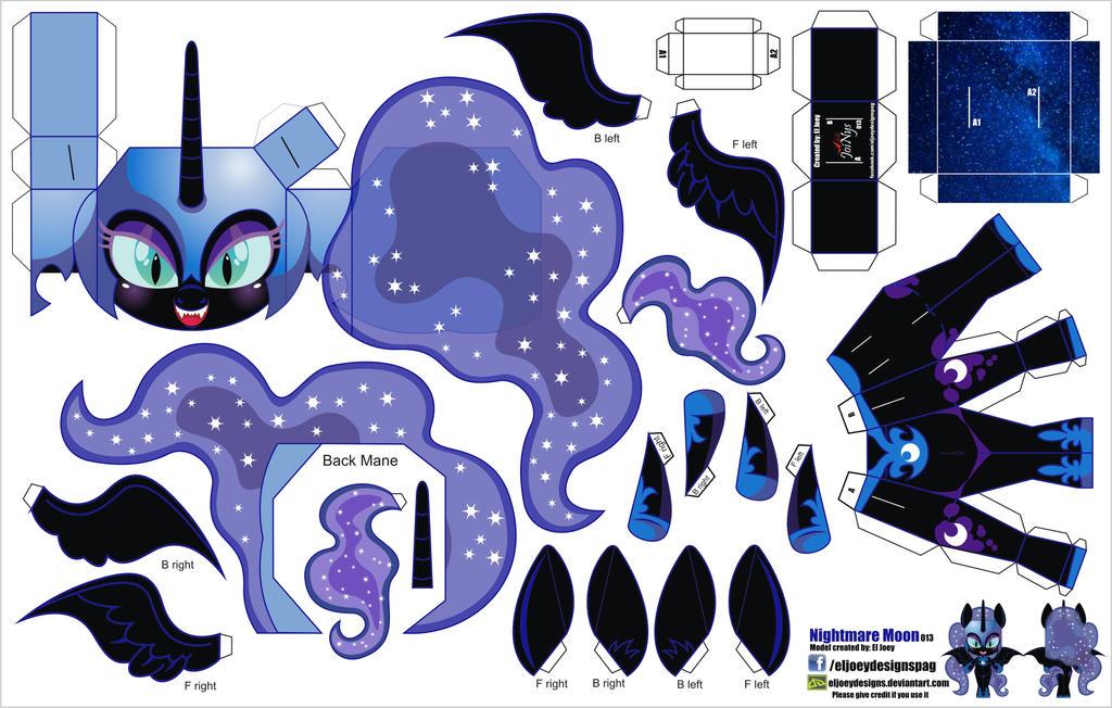 Similiar My Little Pony Nightmare Moon Papercraft Keywords