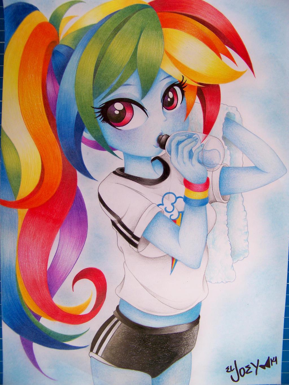Rainbow Dash EG draw by ELJOEYDESIGNS