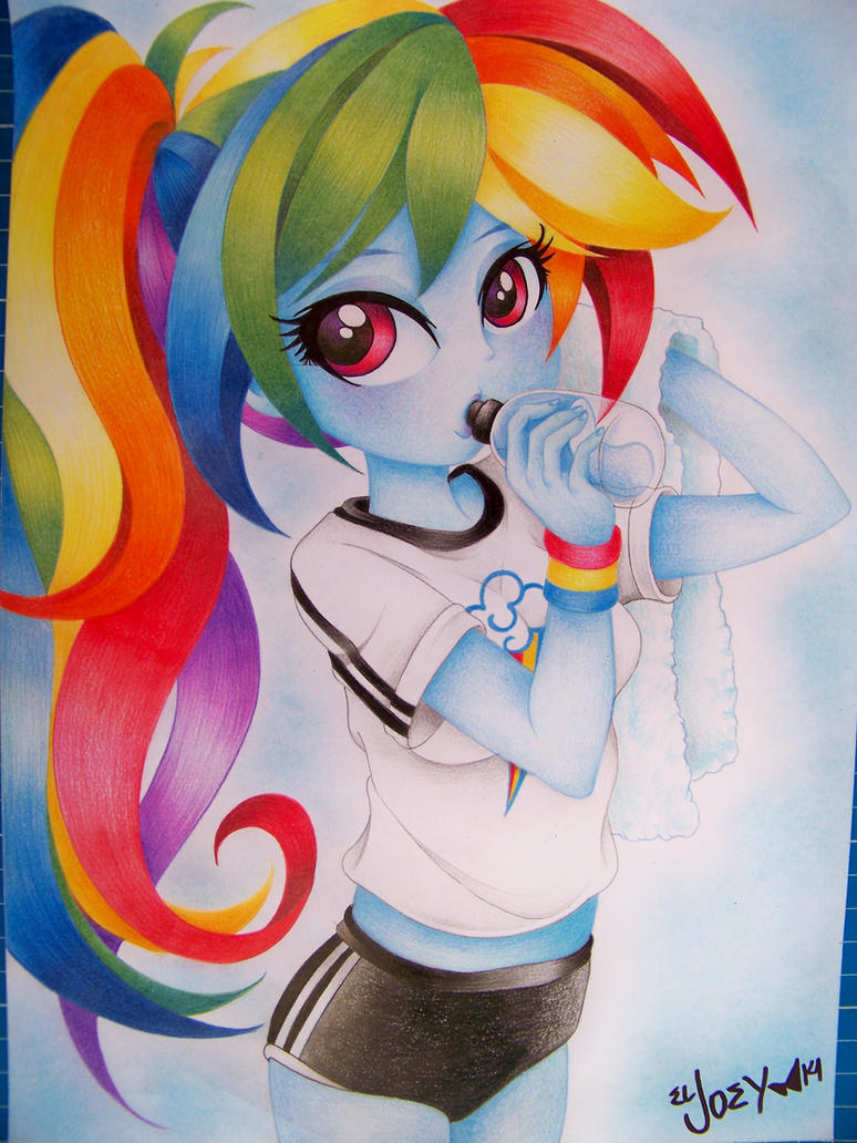 Rainbow Dash EG draw by ELJOEYDESIGNS