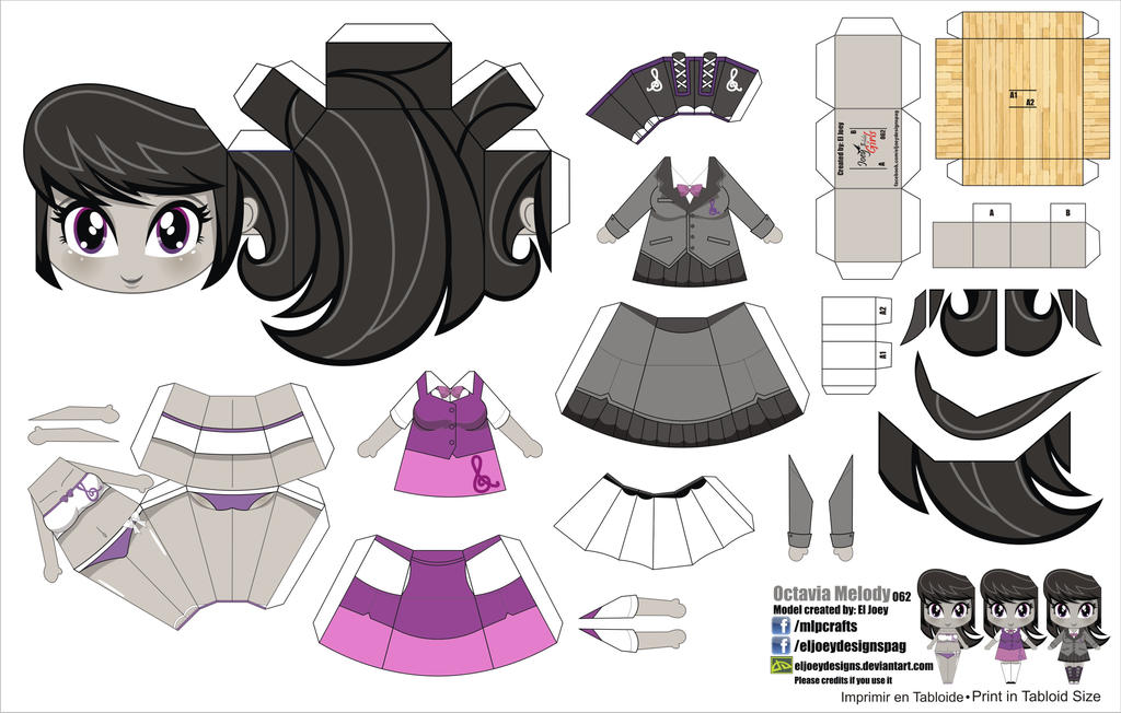 Fantastic Anime Papercraft Templates Photo
