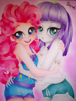 Pinkie and Maud the pie sisters