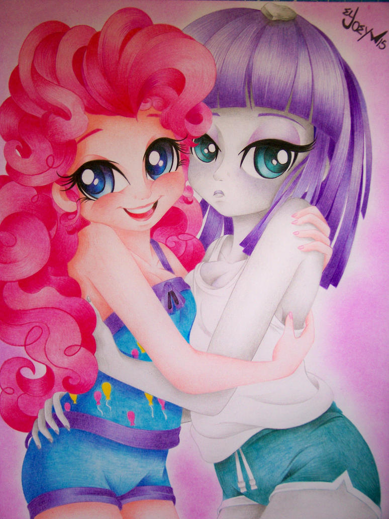 Pinkie and Maud the pie sisters by ELJOEYDESIGNS