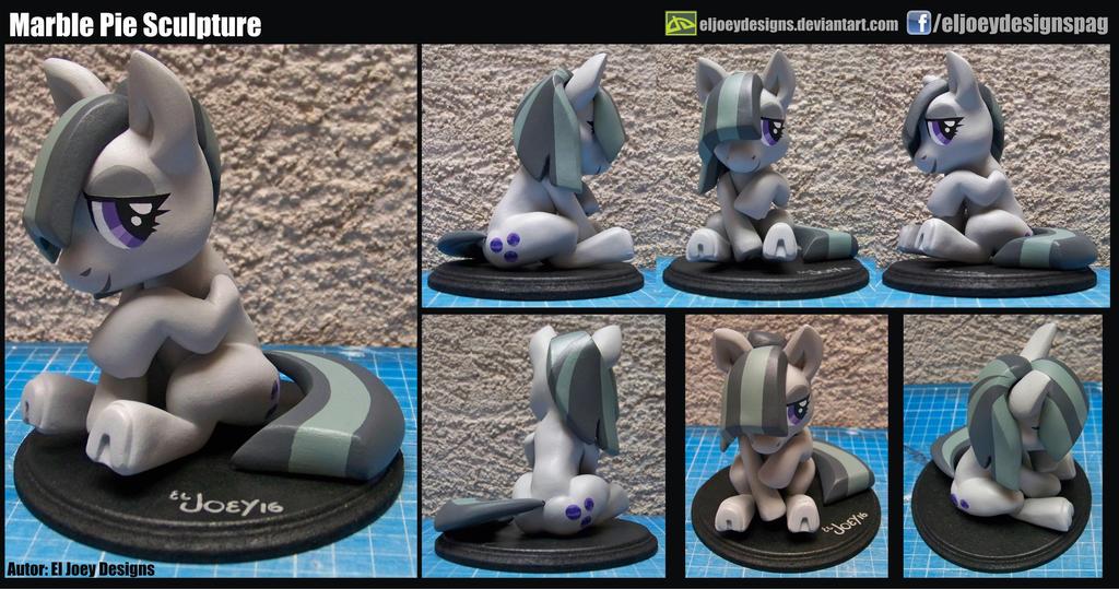 Marble Pie Sculpture by ELJOEYDESIGNS