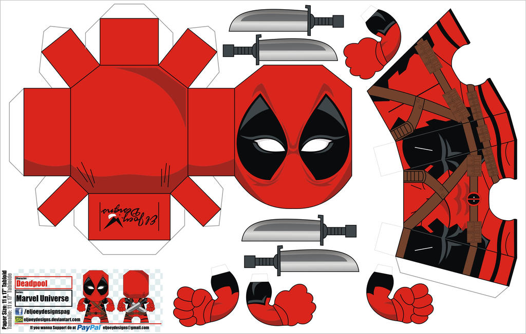 Deadpool papercraft by eljoeydesigns on deviantart deadpool papercraft by eljoeydesigns altavistaventures Choice Image