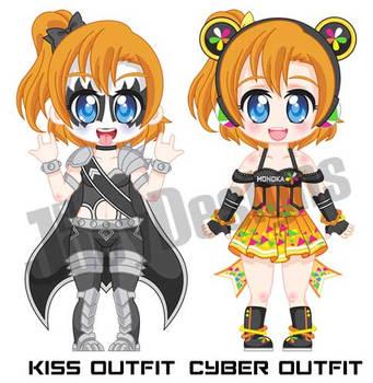 Chibi Honoka extra outfits