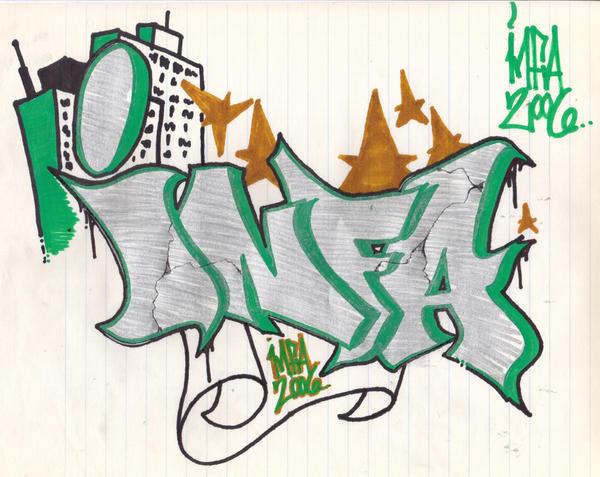 Draw Graffiti on Paper