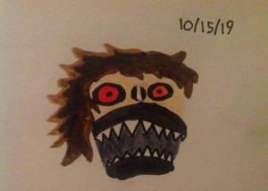 Ashlynn Aker Woods monster face