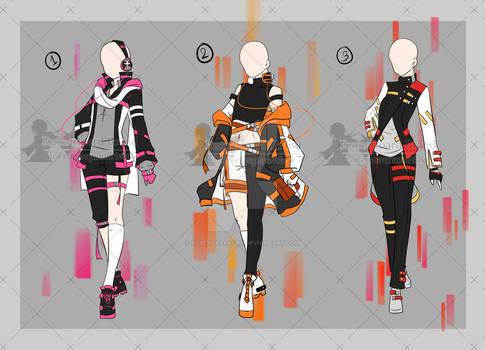 [close] ST. Half Color Outfits Adopt [Auction]