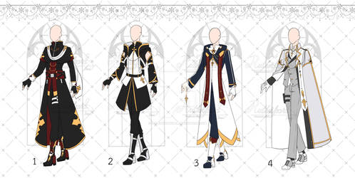 [OPEN 4/4] Exorcist Outfits Adopt [Auction]