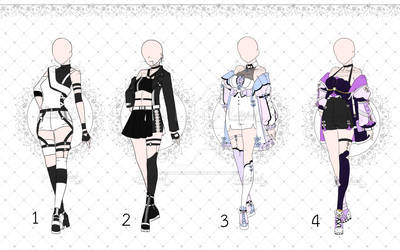[OPEN 1/4] Punk Outfits Adopt [Auction]