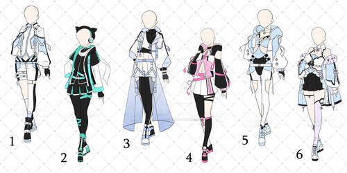 [OPEN 4/6] Pastel Punk Outfits Adopt [Auction]