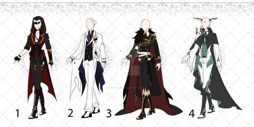 [OPEN 2/4] Halloween Outfit Adopts Set2  [Auction]