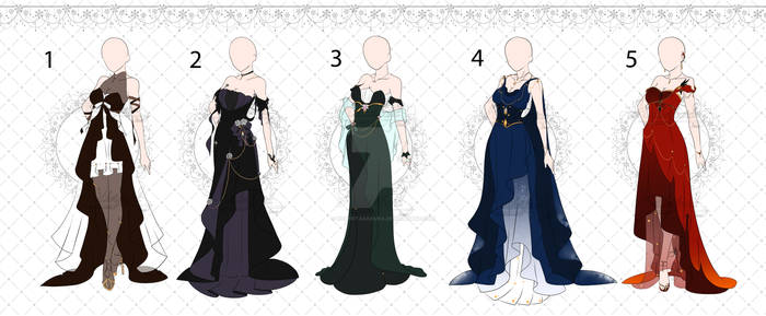 [OPEN 3/5] Halloween dress outfit Adopts[Auction]
