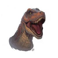 Tyrannosaurus by einen