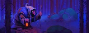 I En Djup och Mystisk Skog by einen