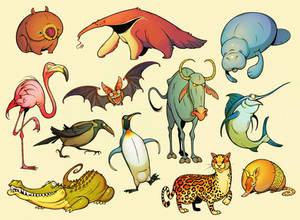 Twelve Daily Animals