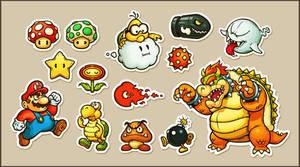 Super Mario Stickers by einen