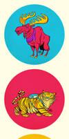 Five Color Animals
