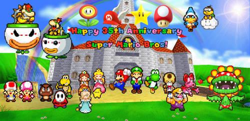 Happy 35th Anniversary      Super Mario Bros!