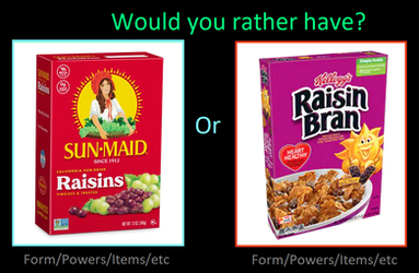 Sun-Maid Raisins or Kellogg's Raisin Bran by supercharlie623