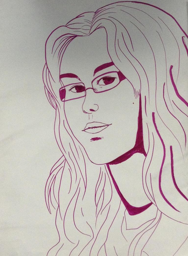 Contour Line Drawing Self Portrait : Self portrait contour line by versaill on deviantart