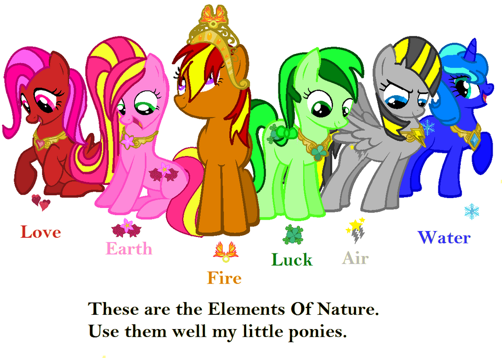 The elements of Nature (My mane 6) by blazebrem on DeviantArt