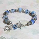 Blue Agate Star of David Bracelet by FancyHeartDesigns