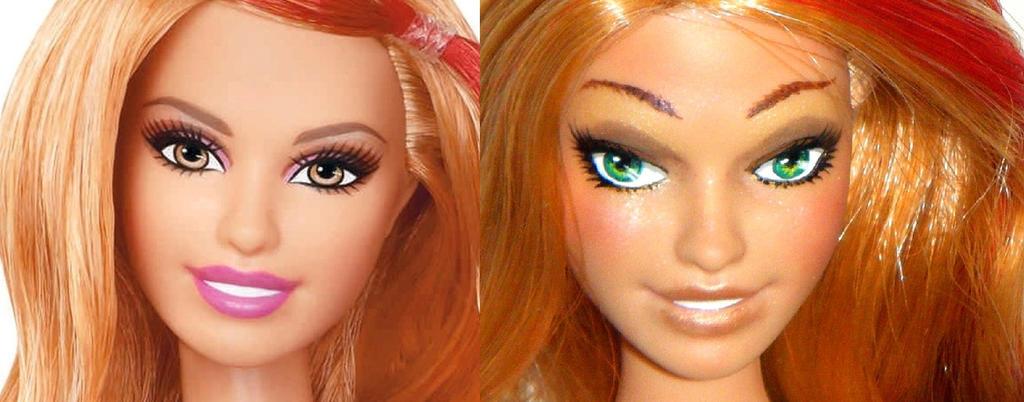 Summer Barbie repaint by kalavista