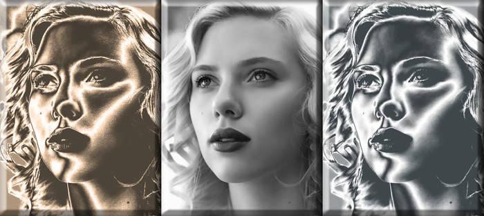 Scarlett Johansson - Gold Silver
