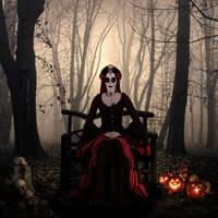 Halloween in the woods by joebudai