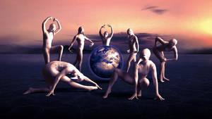 Dancing around the earth by joebudai