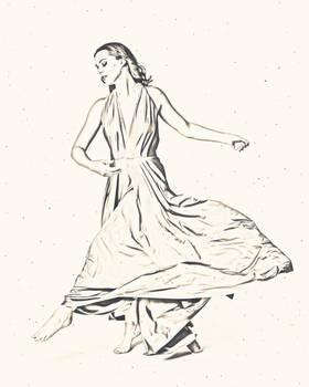 Jessica is dancing