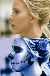 Scarlett Johansson - Before after