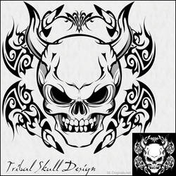 Tribal Skull Design