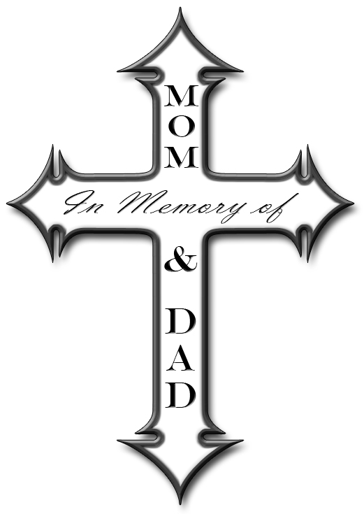 mom dad memory cross by skoriginals on deviantart. Black Bedroom Furniture Sets. Home Design Ideas