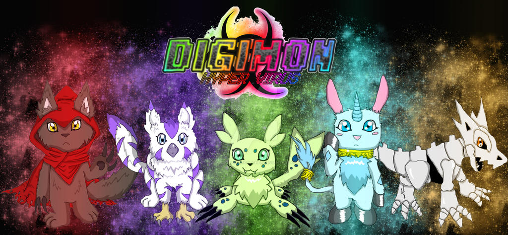 Digimon Hyper Virus - All Rookies by BabydollStarCatcher