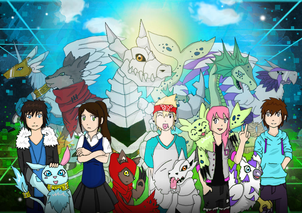 Digimon Hyper Virus - Digidestineds with Rookies by BabydollStarCatcher