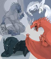 My dragons by SHADE-ShyPervert