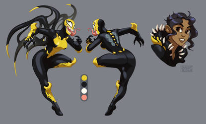 Commission - symbiote design by SHADE-ShyPervert