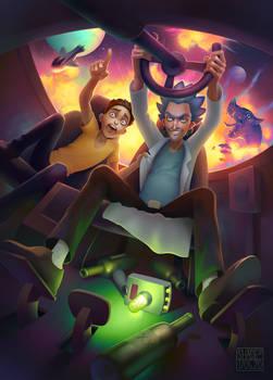 Rick and Morty (zine illustration)