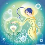 Spirit of waterside flower by sattantan