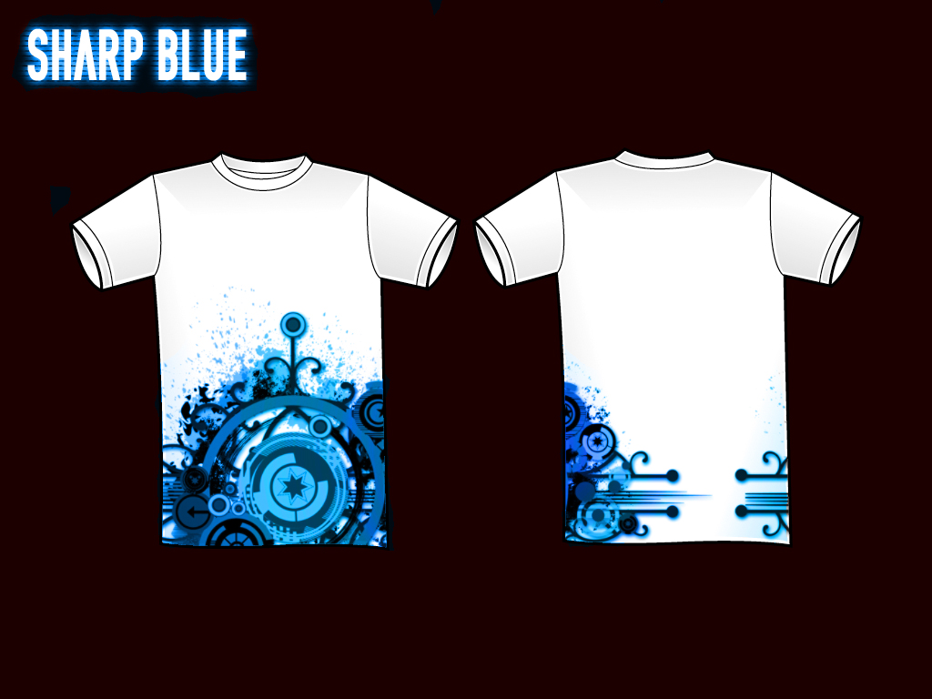 Sharp blue t shirt design by christ139 on deviantart for How to design and sell t shirts
