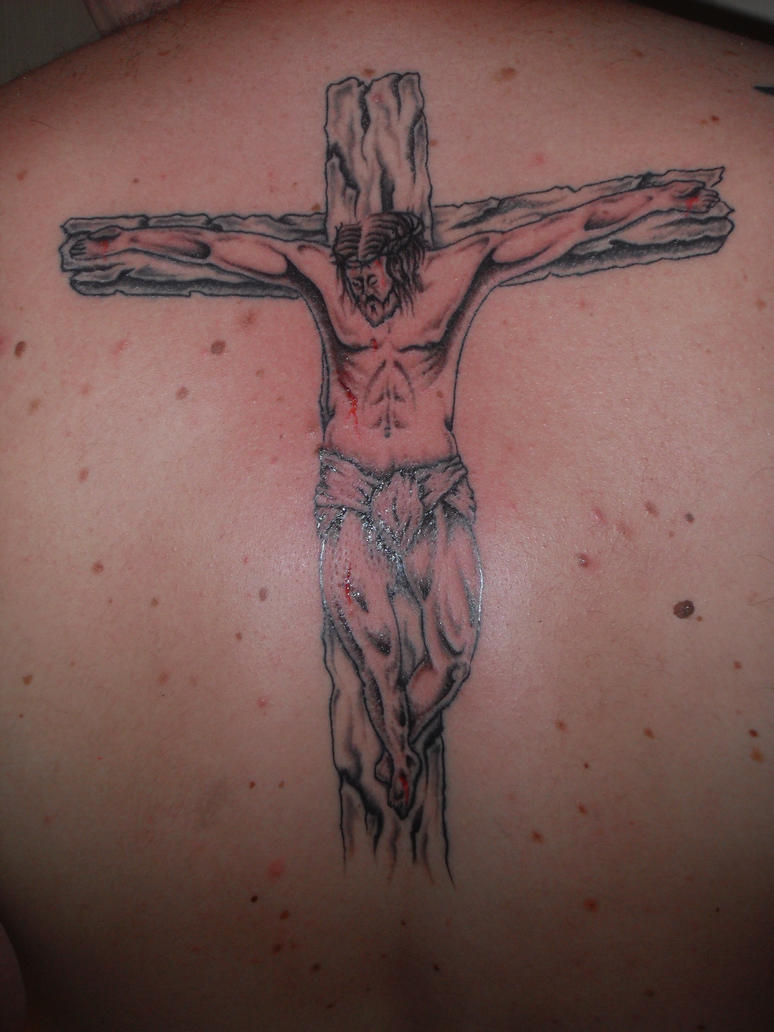 jesus cross back tattoo by ashtonbkeje on deviantart. Black Bedroom Furniture Sets. Home Design Ideas