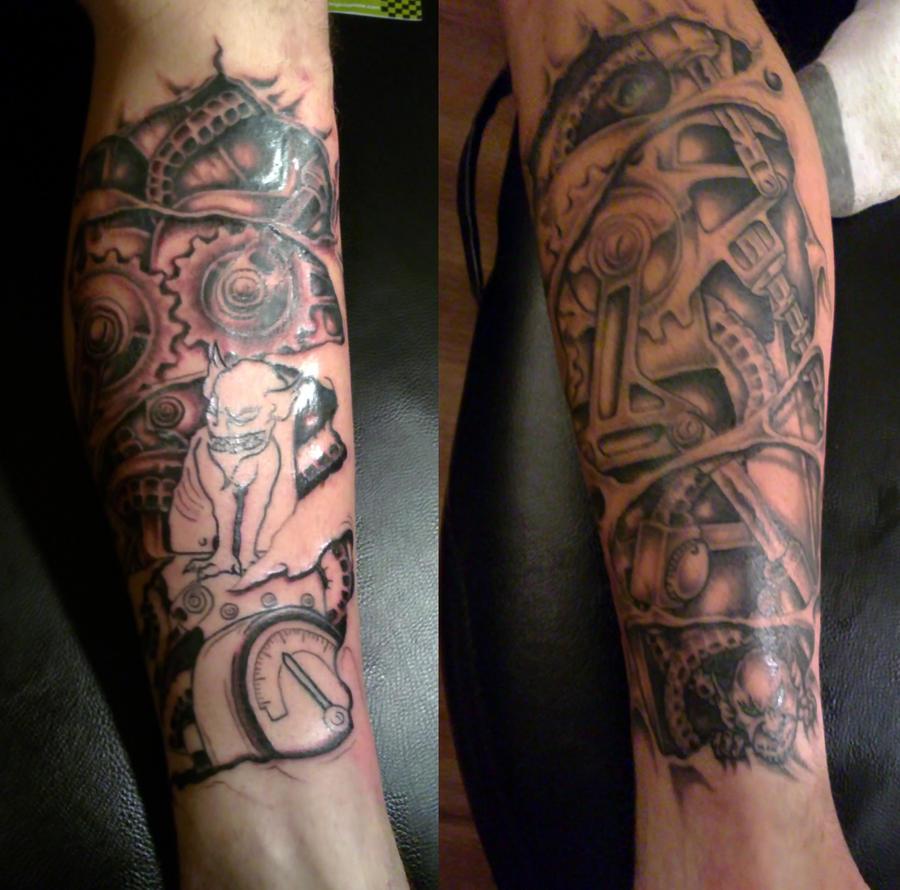 Mechanical leg sleeve w i p by ashtonbkeje on deviantart for Leg sleeves tattoos