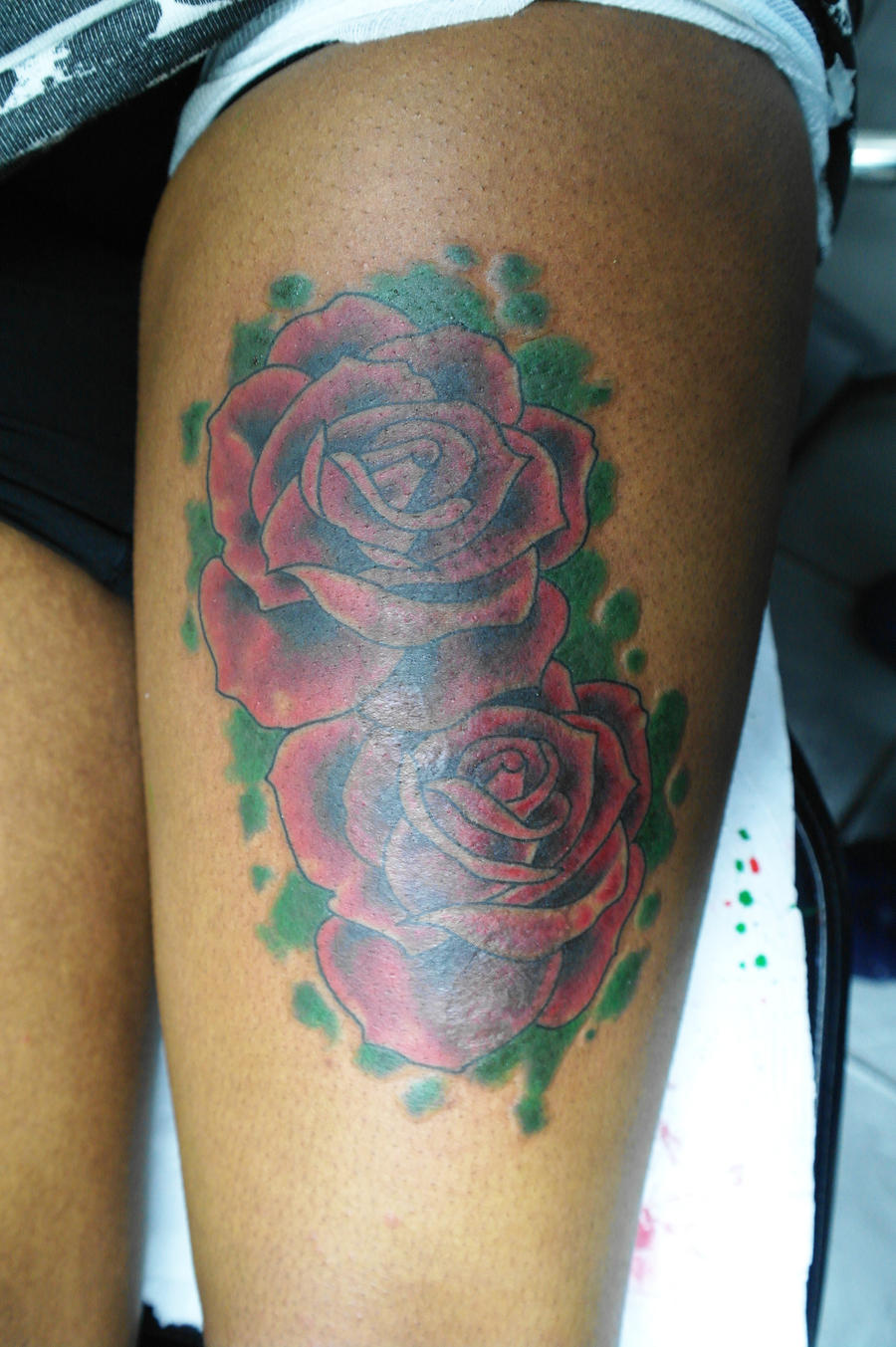 Burn scar rose cover up 2 by ashtonbkeje on deviantart for Scar tattoo cover up