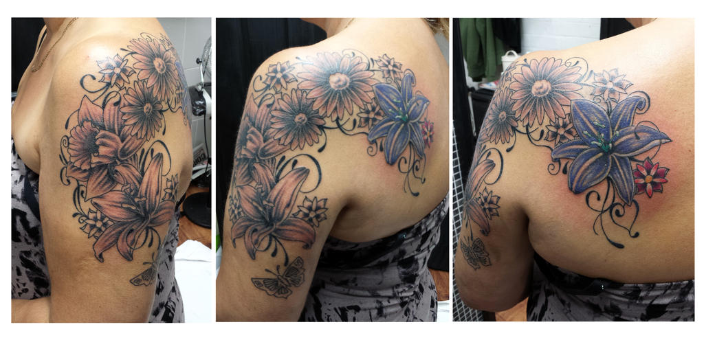 Floral cover up in progress by Ashtonbkeje