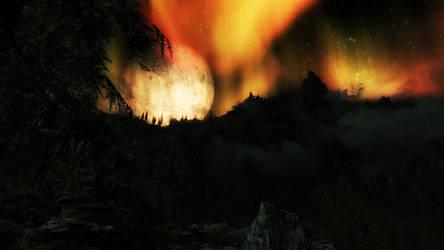 Skyrim by night by mattfire