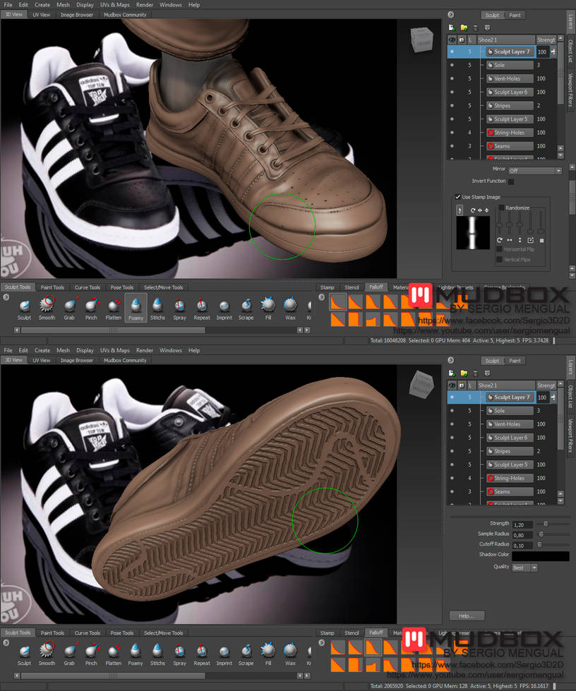How to Make Realistic Sport Shoes 100% in Mudbox by