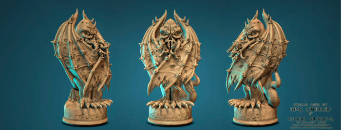 Cthulhu Chess Set: The King By Sergio Mengual by SergioMengual2012